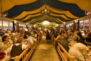 The small Oktoberfest tents