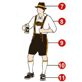 Dirndl y Lederhosen  Trajes del Oktoberfest e5204e31579