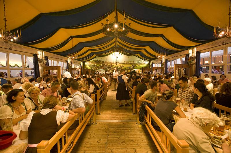 & The small Oktoberfest tents